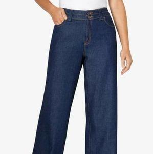 Woman Within Wide Leg Cotton Jean